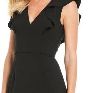 French Connection black side ruffles dress.